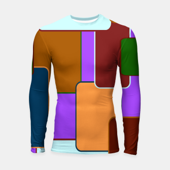 Retro squares on purple Longsleeve rashguard miniature