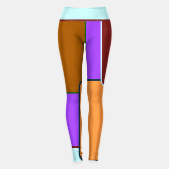 Thumbnail image of Retro squares on purple Leggings, Live Heroes