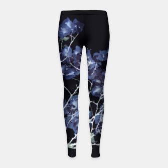 Miniatur Photo Illustration Floral Girl's leggings, Live Heroes