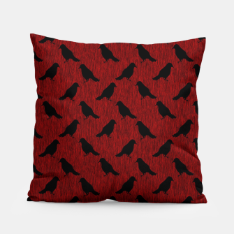 Miniaturka Ravens On Red Pillow, Live Heroes