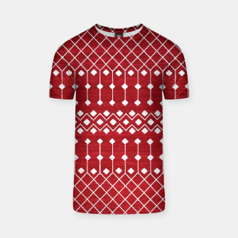 Berry Red Boho Berber Moroccan Design T-shirt thumbnail image