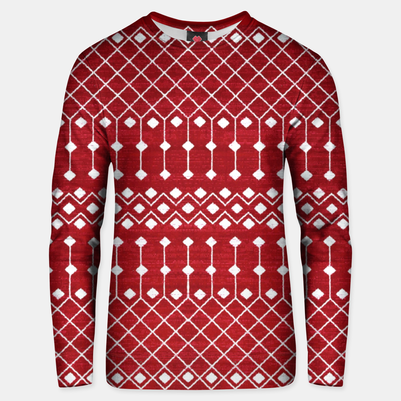 Image of Berry Red Traditional Berber Bohemian Moroccan Design  Unisex sweater - Live Heroes