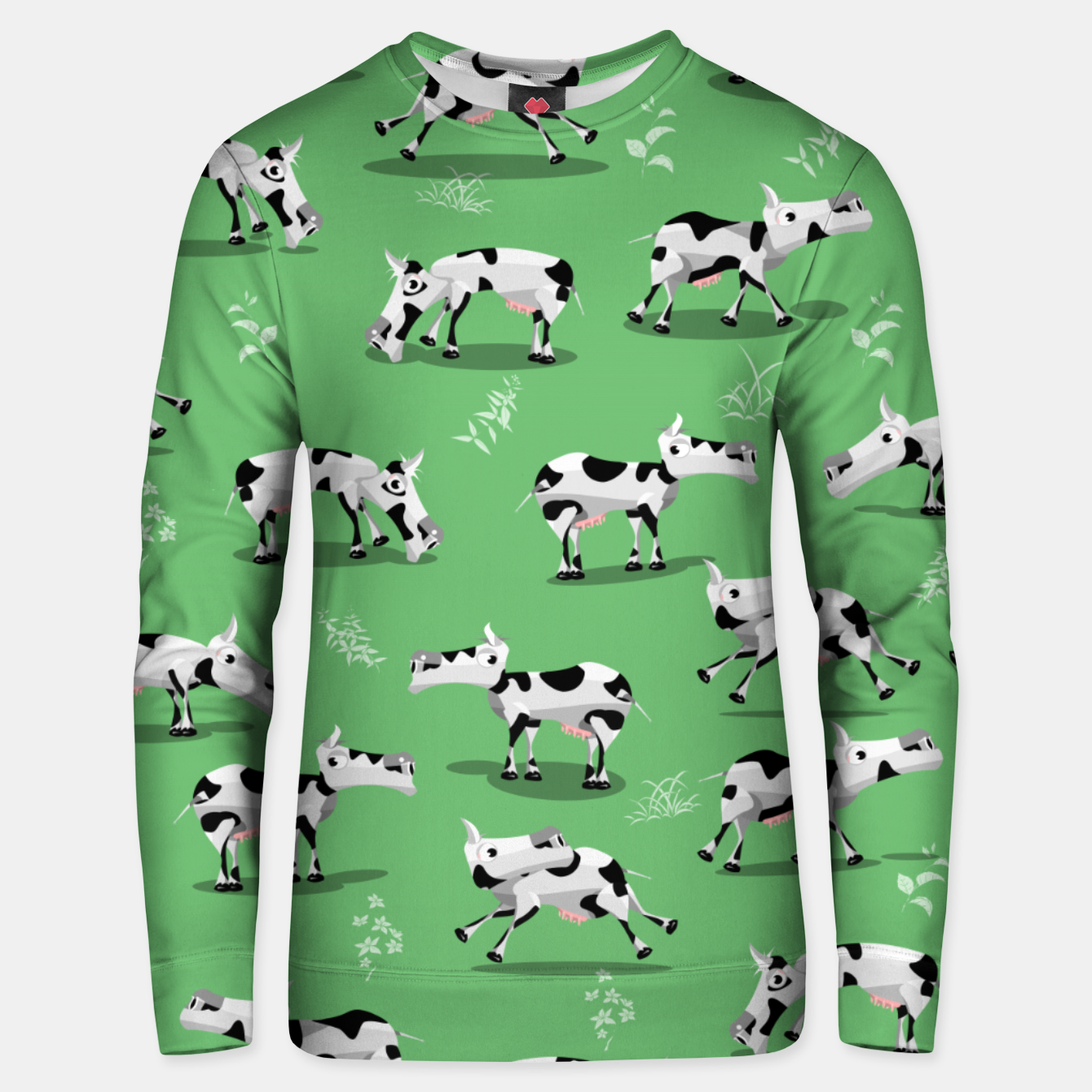 Image of Cow Pattern Unisex sweater - Live Heroes
