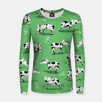 Thumbnail image of Cow Pattern Women sweater, Live Heroes