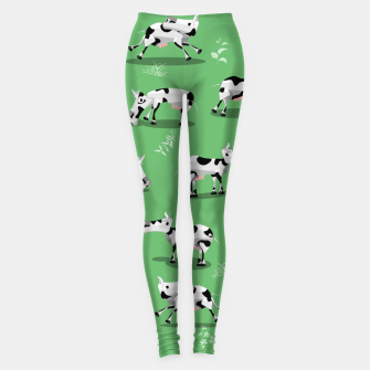 Thumbnail image of Cow Pattern Leggings, Live Heroes