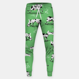 Thumbnail image of Cow Pattern Sweatpants, Live Heroes