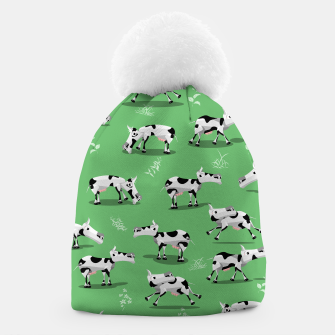 Thumbnail image of Cow Pattern Beanie, Live Heroes