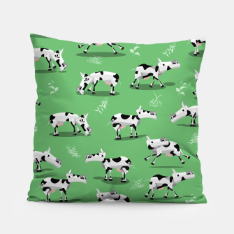 Thumbnail image of Cow Pattern Pillow, Live Heroes
