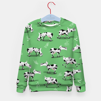 Thumbnail image of Cow Pattern Kid's sweater, Live Heroes