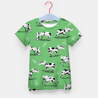 Thumbnail image of Cow Pattern Kid's t-shirt, Live Heroes