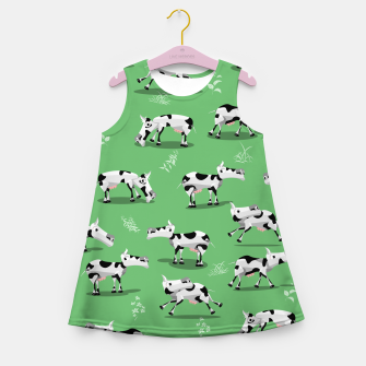 Thumbnail image of Cow Pattern Girl's summer dress, Live Heroes