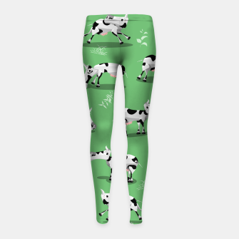 Thumbnail image of Cow Pattern Girl's leggings, Live Heroes