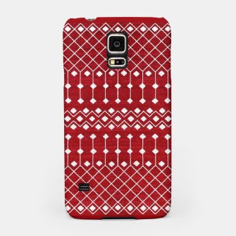 Miniatur Berry Red Traditional Berber Bohemian Moroccan Design  Samsung Case, Live Heroes
