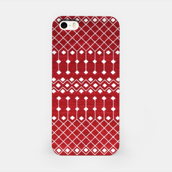 Miniatur Berry Red Traditional Berber Bohemian Moroccan Design  iPhone Case, Live Heroes