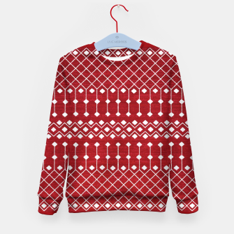 Miniatur Berry Red Traditional Berber Bohemian Moroccan Design  Kid's sweater, Live Heroes