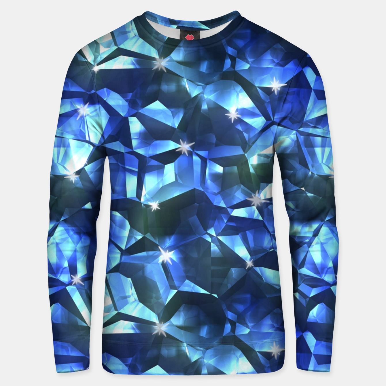 Image of Blue Crystal Pattern Unisex sweater - Live Heroes