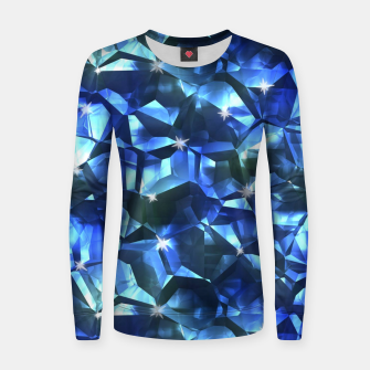 Blue Crystal Pattern Women sweater thumbnail image