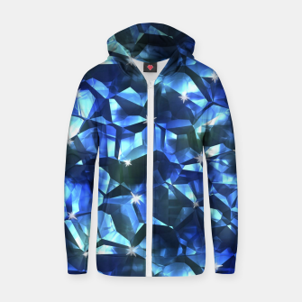 Blue Crystal Pattern Zip up hoodie thumbnail image