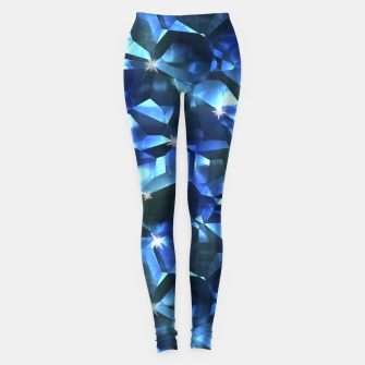 Blue Crystal Pattern Leggings thumbnail image
