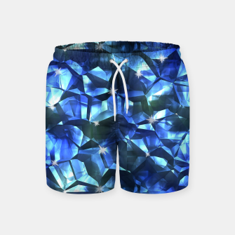 Blue Crystal Pattern Swim Shorts thumbnail image
