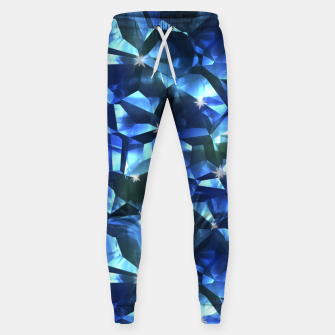 Blue Crystal Pattern Sweatpants thumbnail image