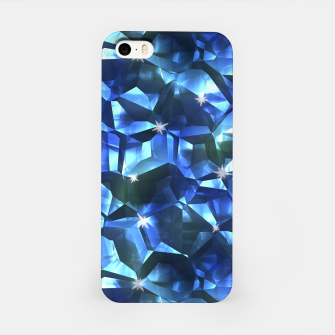 Blue Crystal Pattern iPhone Case thumbnail image