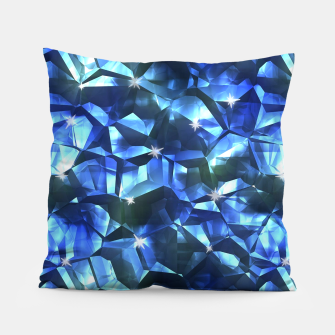 Blue Crystal Pattern Pillow thumbnail image