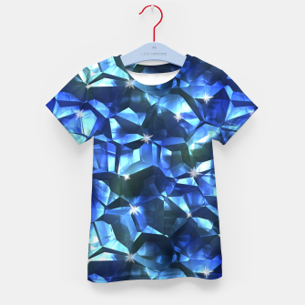 Blue Crystal Pattern Kid's t-shirt thumbnail image