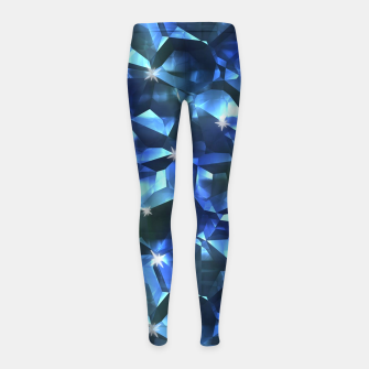 Blue Crystal Pattern Girl's leggings thumbnail image