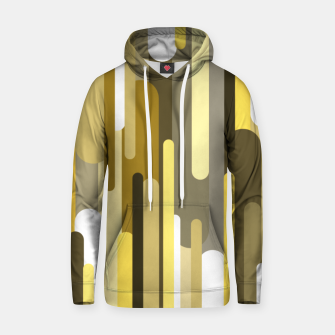 Flowing drops of paint in gold yellow, abstract liquid flow, golden background Hoodie thumbnail image