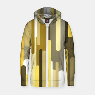 Flowing drops of paint in gold yellow, abstract liquid flow, golden background Zip up hoodie thumbnail image