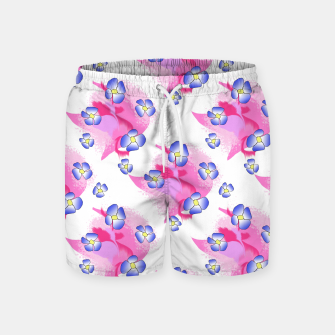 Blue Flowers On Pink Swim Shorts thumbnail image