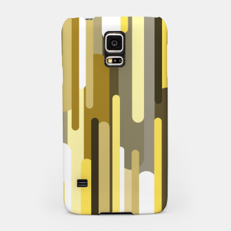 Thumbnail image of Flowing drops of paint in gold yellow, abstract liquid flow, golden background Samsung Case, Live Heroes