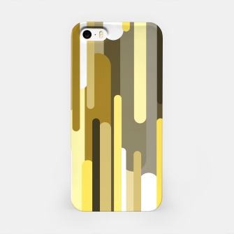 Miniaturka Flowing drops of paint in gold yellow, abstract liquid flow, golden background iPhone Case, Live Heroes