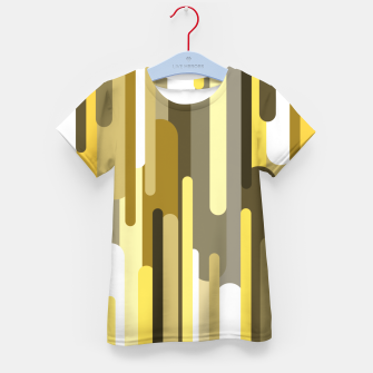 Thumbnail image of Flowing drops of paint in gold yellow, abstract liquid flow, golden background Kid's t-shirt, Live Heroes