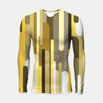 Miniaturka Flowing drops of paint in gold yellow, abstract liquid flow, golden background Longsleeve rashguard , Live Heroes