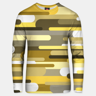 Miniaturka Flowing drops of paint in gold yellow, abstract liquid flow, golden background Unisex sweater, Live Heroes