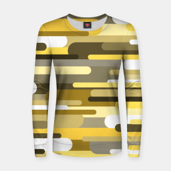 Miniaturka Flowing drops of paint in gold yellow, abstract liquid flow, golden background Women sweater, Live Heroes