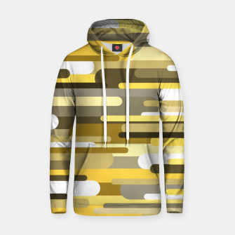 Thumbnail image of Flowing drops of paint in gold yellow, abstract liquid flow, golden background Hoodie, Live Heroes