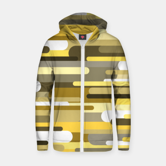 Thumbnail image of Flowing drops of paint in gold yellow, abstract liquid flow, golden background Zip up hoodie, Live Heroes