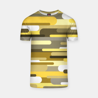 Thumbnail image of Flowing drops of paint in gold yellow, abstract liquid flow, golden background T-shirt, Live Heroes