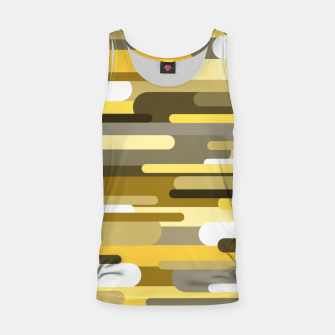 Miniaturka Flowing drops of paint in gold yellow, abstract liquid flow, golden background Tank Top, Live Heroes