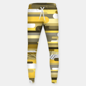 Thumbnail image of Flowing drops of paint in gold yellow, abstract liquid flow, golden background Sweatpants, Live Heroes