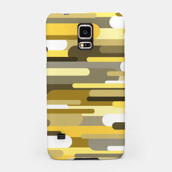 Miniaturka Flowing drops of paint in gold yellow, abstract liquid flow, golden background Samsung Case, Live Heroes