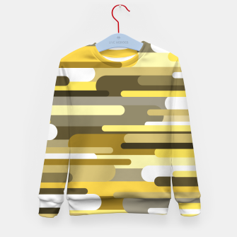 Thumbnail image of Flowing drops of paint in gold yellow, abstract liquid flow, golden background Kid's sweater, Live Heroes