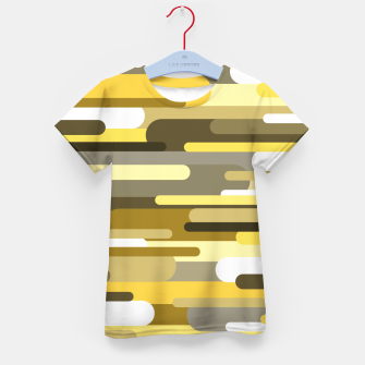 Miniaturka Flowing drops of paint in gold yellow, abstract liquid flow, golden background Kid's t-shirt, Live Heroes