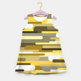Thumbnail image of Flowing drops of paint in gold yellow, abstract liquid flow, golden background Girl's summer dress, Live Heroes