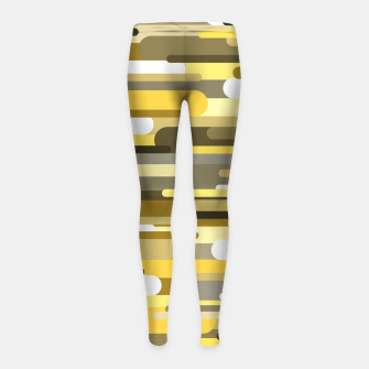 Thumbnail image of Flowing drops of paint in gold yellow, abstract liquid flow, golden background Girl's leggings, Live Heroes
