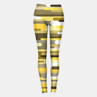 Thumbnail image of Flowing drops of paint in gold yellow, abstract liquid flow, golden background Leggings, Live Heroes