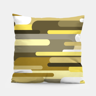 Miniaturka Flowing drops of paint in gold yellow, abstract liquid flow, golden background Pillow, Live Heroes